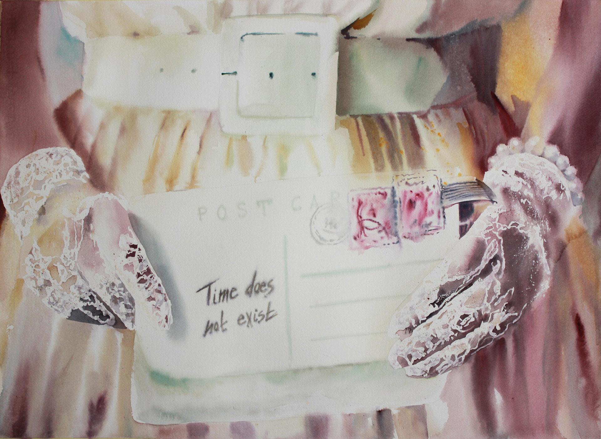 Time does not exist 56x75 acquerello su carta