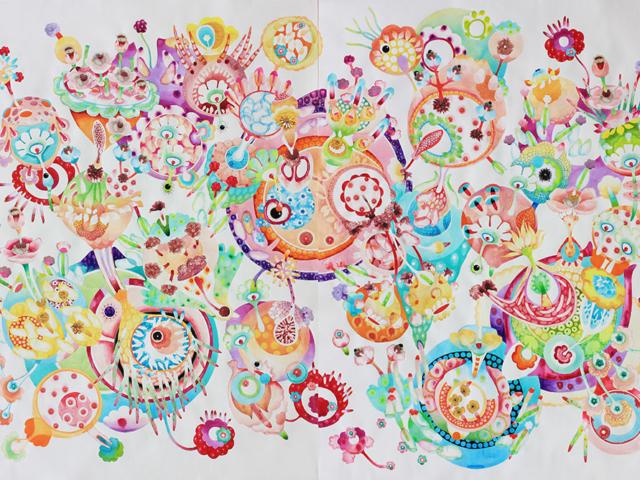 Composizione - 200x300 acquerello su carta