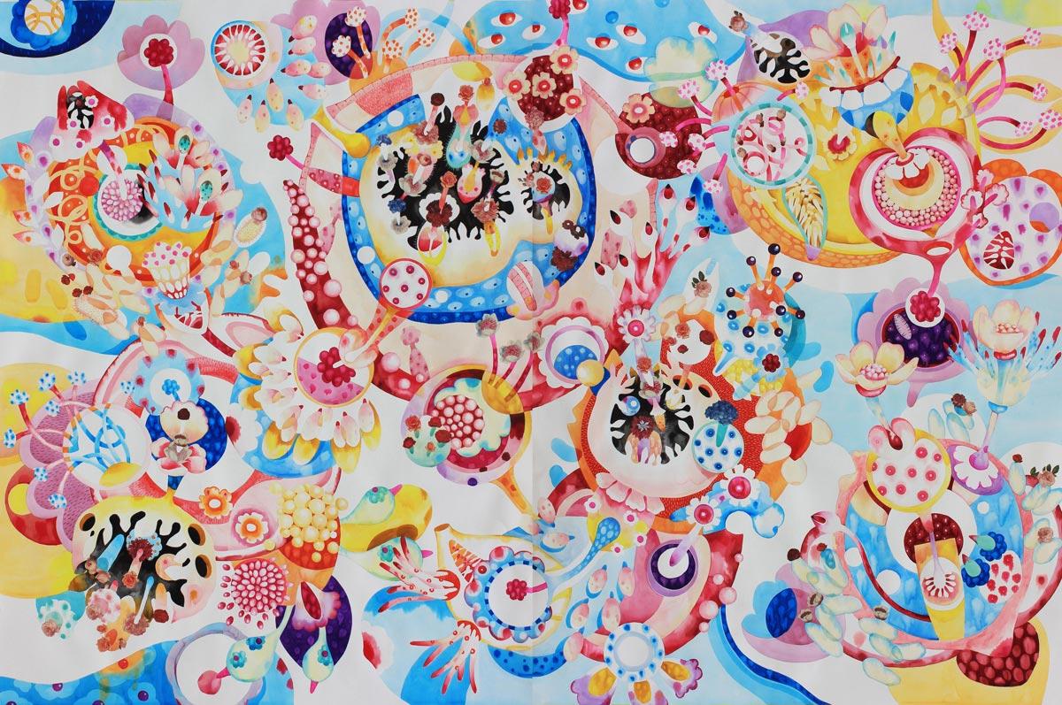 esplosione di colori, macro e microcosmo