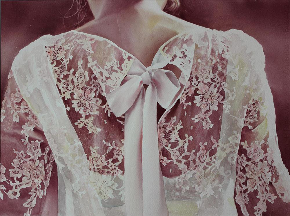 Nastro rosa - 56x76 acquerello su carta