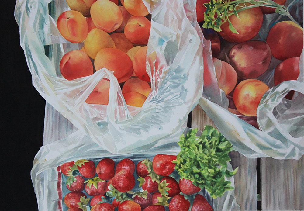 Frutta fresca - 38x56 acquerello su carta